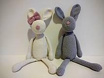 Hračky - Háčkovaný zajačik - 8900246_