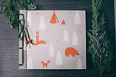 Papiernictvo - Fotoalbum klasický, polyetylénový obal s potlačou ,,V lesnej ríši,, - 8897770_