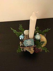 Svietidlá a sviečky - Vianočný svietnik - 8901393_