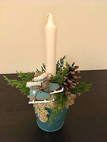 Svietidlá a sviečky - Vianočný svietnik - 8901417_