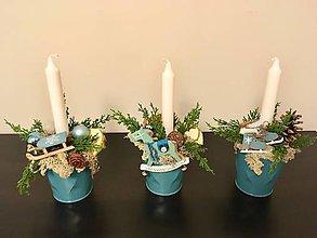 Svietidlá a sviečky - Vianočné svietniky - 8901458_