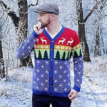 Oblečenie - kardigan / zimný les - 8900677_