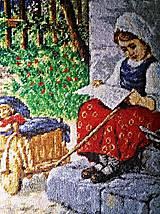 """Obrazy - Vysivany obraz """"Dievčatko"""" o02 - 8901851_"""