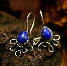 Náušnice - Strieborné náušnice s lapisom lazuli - 8899222_