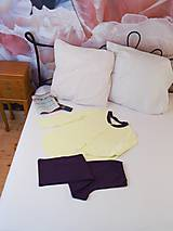Pyžamy a župany - Pyžamo Lili G - žltá - 8901890_