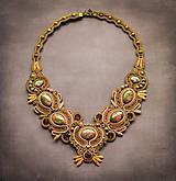 Náhrdelníky - Stone gem I. - soutache náhrdelník - 8900008_