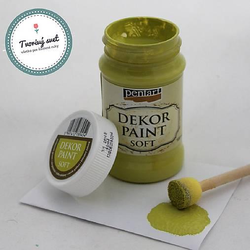 Dekor Paint Soft 100ml - žltkastá zelená