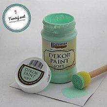 Farby-laky - Dekor Paint Soft 100ml - mätovozelená - 8899603_