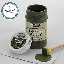 Farby-laky - Dekor Paint Soft 100ml - tŕňovozelená - 8899617_