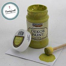 Farby-laky - Dekor Paint Soft 100ml - žltkastá zelená - 8899633_