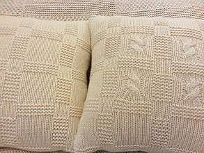 Úžitkový textil - VANKÚŠE ručne pletené... Snehové Kráľovstvo - 8900742_