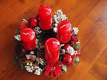 - Červený adventný veniec s jablkami 28cm - 8898020_