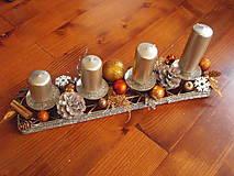- Netradičky metalický adventný svietnik 41cm - 8898101_