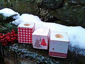 Svietidlá a sviečky - Vianočné svietničky - 8900536_