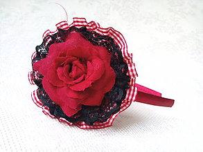 Ozdoby do vlasov - Čelenka Red Tango - 8905512_