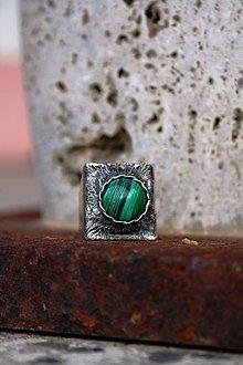 Prstene - Stred - Malachit - 8905773_