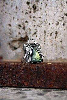 Prstene - Anjelik ochranca prstienkový Labradoritový - 8906265_