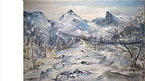 Obrazy - Zimná krajinka - 8902520_