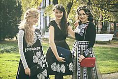 Náušnice - Mosadzné náušnice s bielymi a smotanovými kvetmi - Slavianka - 8902455_