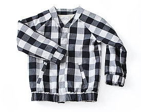 Detské oblečenie - Bomberka VINCENT gingham - 8902498_