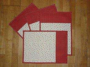 Úžitkový textil - Prestieranie vianočné so zlatým vzorom 2 - 8903757_