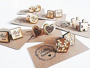 Šperky - Drevené manžetové gombíky na objednavku - 8905874_