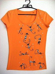 Tričká - Dámske tričko Mačky - 8906201_