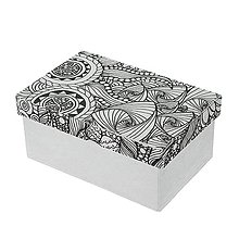 Polotovary - Papierová krabica s vymaľovankou Obdĺžnik veľký - 8904342_