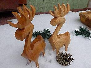 Dekorácie - Vianočný drevený sob, dekorácia - 8903706_