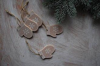 Dekorácie - Rukavičky na stromček - 8905750_
