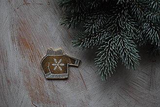Odznaky/Brošne - Svetrík na kabát - 8905858_