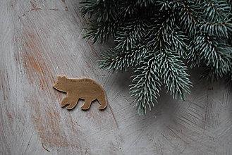 Odznaky/Brošne - Medveď na kabát - 8905863_