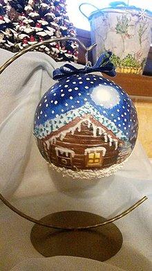 """Dekorácie - Vianočná guľa -""""Čaro zimnej noci"""" - 8902355_"""