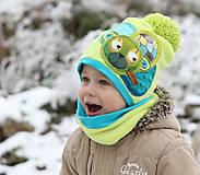 Detské čiapky - Hrejivý setík a mackom - 8902493_