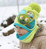 Detské čiapky - Hrejivý setík a mackom - 8902496_