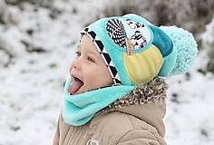 Detské čiapky - Hrejivý setík - 8902566_
