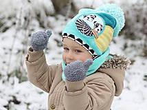 Detské čiapky - Hrejivý setík - 8902567_