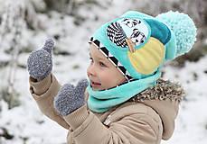 Detské čiapky - Hrejivý setík - 8902568_