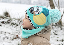 Detské čiapky - Hrejivý setík - 8902569_
