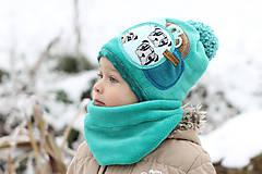 Detské čiapky - Hrejivý set - 8902653_