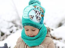 Detské čiapky - Hrejivý set - 8902654_