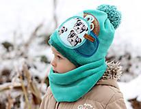 Detské čiapky - Hrejivý set - 8902655_