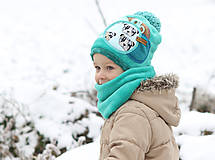 Detské čiapky - Hrejivý set - 8902656_