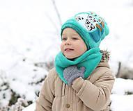 Detské čiapky - Hrejivý set - 8902657_