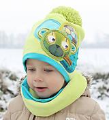 Detské čiapky - Hrejivý setík a mackom - 8902720_