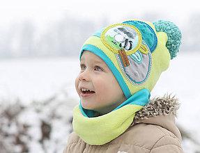 Detské čiapky - Hrejivý setík - 8902637_