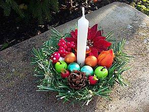 Svietidlá a sviečky - Vianočný svietnik