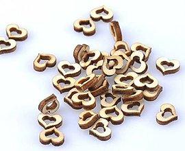 Papier - VY136 Výrez drevený srdiečko mini 1 x 0,8 cm - 8902630_