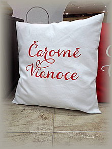 Úžitkový textil - Čarovné Vianoce biela obliečka - 8904728_