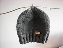 Čiapky - Tmavo-šedá čiapka Beanie - 8904273_